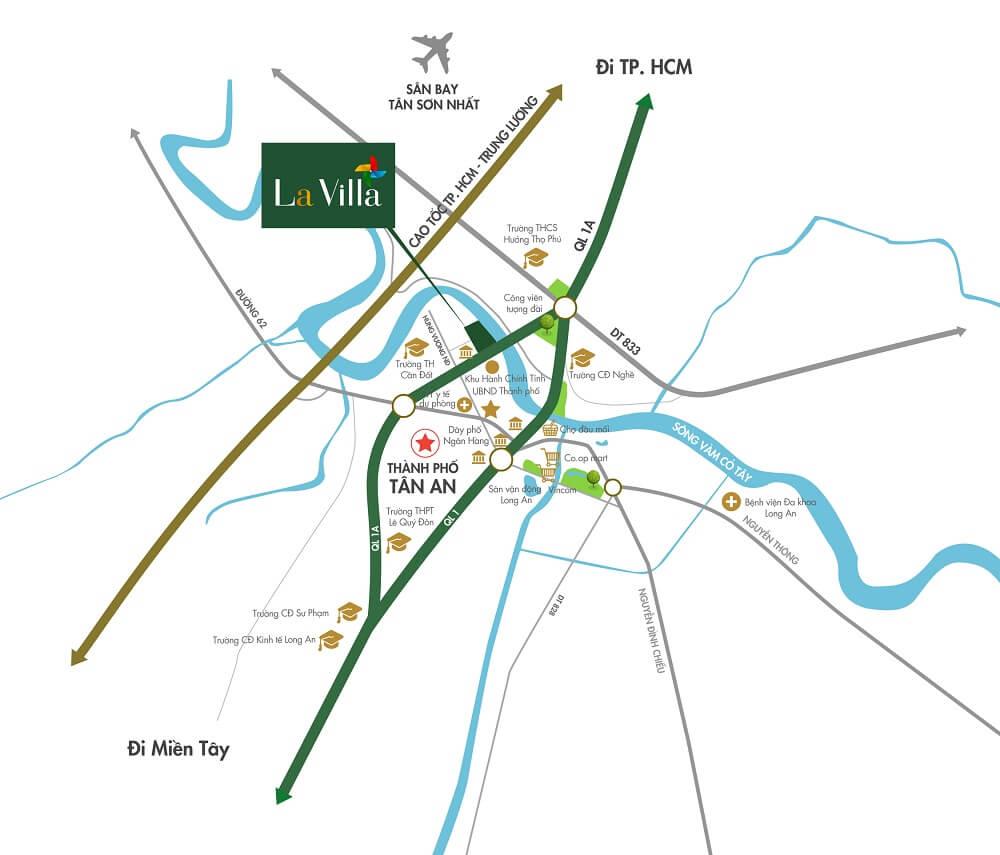 bản đồ lavilla green city