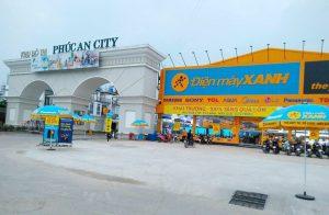 Cổng chào khu dân cư phúc an city nằm ngày mặt tiền đường tỉnh lộ 824