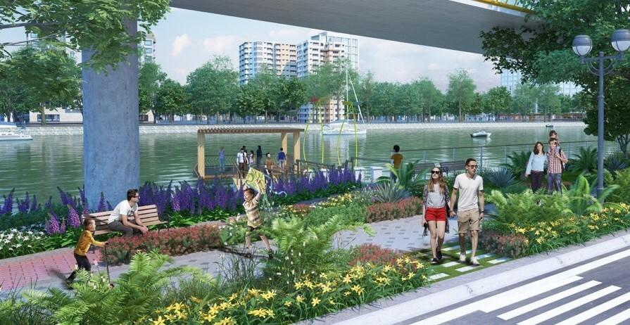 Phối cảnh công viên ven sông