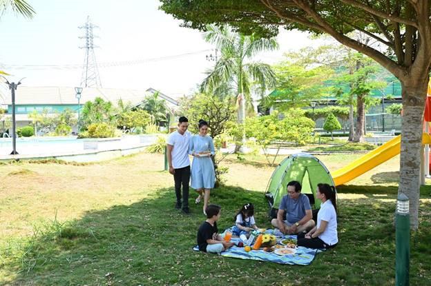 La Villa Green City được thiết kế theo không gian mở và đày đủ các dịch vụ tiện ích