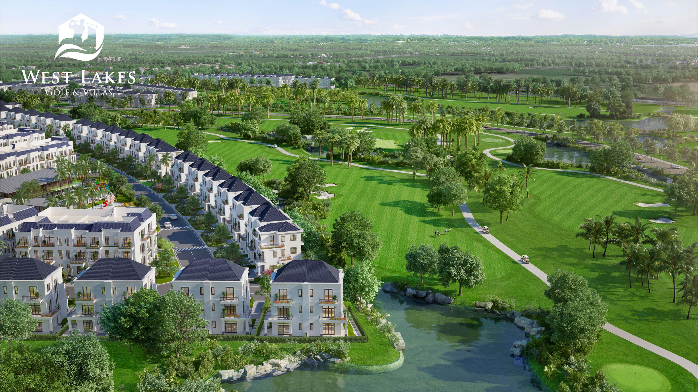 Tất cả biệt thự đều sở hữu tầm nhìn ra sân golf West Lakes tuyệt đẹp.