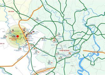 Sơ Đồ Vị Trí dự án Và liên kết vùng KCN Trần Anh Tân Phú